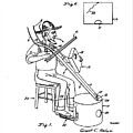 Pitch Fork Fiddle And Drum Patent 1936 - White by Bill Cannon