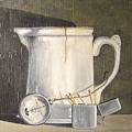 Pitcher, Meter And Matches Still Life by John Dix