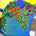 Pitcher Of Flowers by Becky Giovine