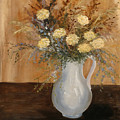 Pitcher Of Mums by Betty Stevens