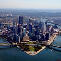 Pittsburgh Aerial Digital Painting by Pittsburgh Aerials