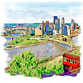 Pittsburgh Aerial View by Marian Voicu