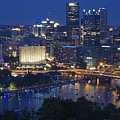 Pittsburgh Blue Hour Panoramic by Frozen in Time Fine Art Photography