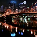 Pittsburgh Full Moon by Frozen in Time Fine Art Photography