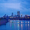 Pittsburgh In Blue by John Toxey