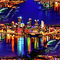Pittsburgh Skyline Art by Ron Fleishman