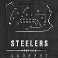 Pittsburgh Steelers Art - Nfl Football Wall Print by Damon Gray