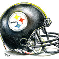 Pittsburgh Steelers Helmet by James Sayer