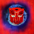 Pixeled Autobot by Justin Moore