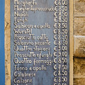 Pizza Menu Florence Italy by Edward Fielding