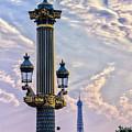 Place De La Concorde View Eiffeltower by Rene' Keultjes