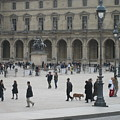 Place Du Carrousel At The Louvre by Victoria Heryet