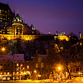 Place-royale At Twilight Quebec City Canada by Dawna Moore Photography