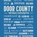 Places Of Door County On Blue by Christopher Arndt