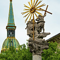 Plague Column And Saint Martin Cathedral by Bob Phillips