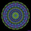 Plaid Wheel Mandala by Joy McKenzie