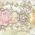 Plan Of Part Of The City And Citadel Of Strasbourg by Art Makes Happy