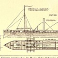 Plan Of Robert Fultons First Steamboat by Everett