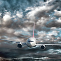 Plane In Storm by Olivier Le Queinec