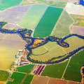 Planet Art Colorful  Midwest Aerial by James BO Insogna