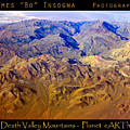 Planet Art Death Valley Mountain Aerial by James BO  Insogna