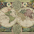 Planiglobii Terrestris World Map by Johann Baptiste Homann