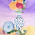 Plate And Flowers by Jamie Frier