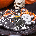 Plate Of Halloween Sugar Cookies by Edward Fielding