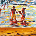 Play Day At Jobos Beach by Milagros Palmieri