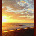 Playa Hermosa Puntarenas Costa Rica - Sunset A One Detail Two Vertical Poster Greeting Card by Felipe Adan Lerma
