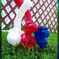 Playful Balloon Monkeys by Shawna Rowe