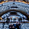 Playful Ladies By Chicago's Bean  by Sven Brogren