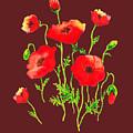 Playful Poppy Flowers by Irina Sztukowski