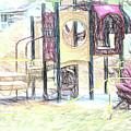 Playground Equipment Sketch by Melvin Busch