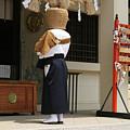 Playing At The Shrine by Masami Iida