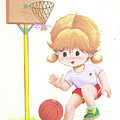 Playing Basketball by Laura Greco