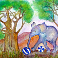 Playing By The Baobab Tree by Janet Immordino