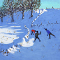 Playing In The Snow Youlgrave, Derbyshire by Andrew Macara
