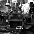 playng backgammon Sinai Egypt by Isaac Silman