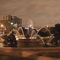 Plaza Fountain Kansas City - Night Shot by David Dunham