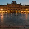 Plaza Mayor In Salamanca by Amber Lea Starfire