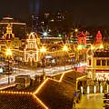 Plaza Overlook At Christmas by Rachel Crozier