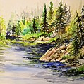 Plein Air At Nutimik Lake In Manitoba by Joanne Smoley