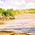 Plein Air At Pine Falls Manitoba by Joanne Smoley