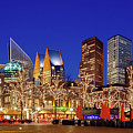 Plein At Blue Hour - The Hague by Barry O Carroll