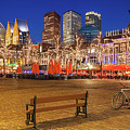 Plein Square At Night - The Hague by Barry O Carroll