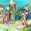 Plethora Of Pelicans by Eileen Olson