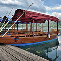 Pletna Boats Of Lake Bled by Norman Gabitzsch