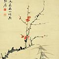 Plum And Bamboo by Zhang Daqian