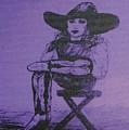 Plum Cowgirl by Susan Gahr